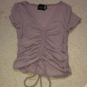urban outfitters purple crop top